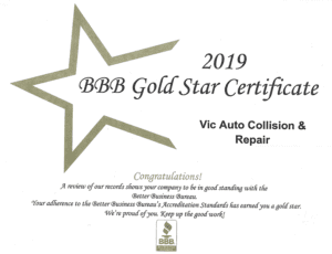 bbb gold star certificate 2019
